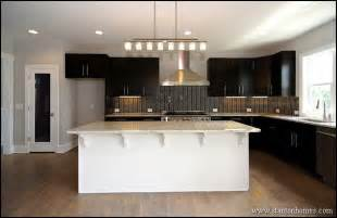 Dark Kitchen Cabinets With Light Countertops by Kitchen Color Trends Dark Cabinets Light Countertops