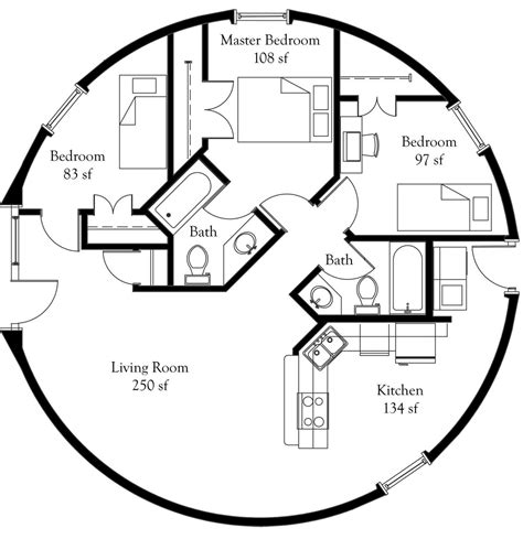 round house floor plan ariel ii monolithic dome institute
