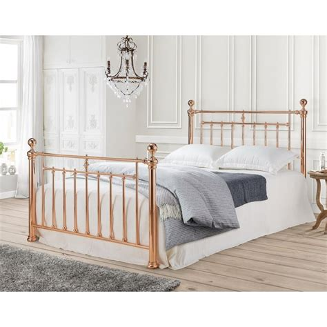 gold frame bed rose gold metal bed frame show more information limelight