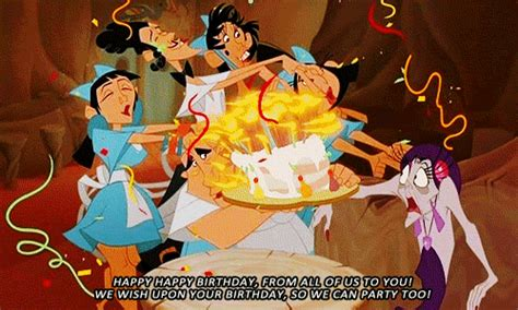 birthday gif the emperors new groove snow white birthday gif find on giphy