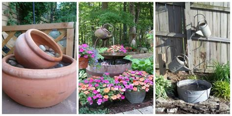 diy backyard fountain 15 diy outdoor fountain ideas how to make a garden