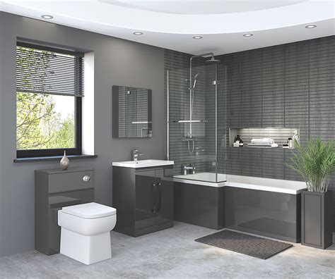 nevada bathroom suite in gloss grey bathroom studio keighley