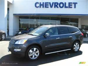 Chevrolet Grey 2009 Cyber Gray Metallic Chevrolet Traverse Ltz 12732008
