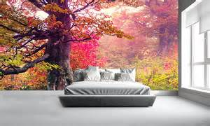 rainbow forest wall mural forest wallpaper 43 enchanting forest wall murals for deep and dreamy home