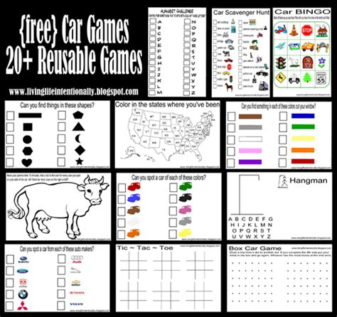 printable games for car rides 20 free printable roadtrip games