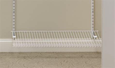 closetmaid 2846 shelftrack ventilated wire shoe shelf kit