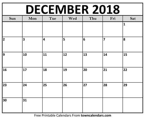 printable december  calendar towncalendarscom