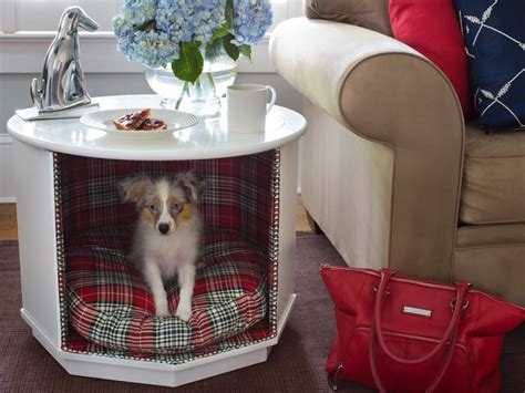 table dog bed how to make a combination pet bed and end table how tos