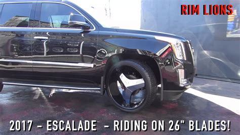 cadillac escalade 2017 custom 2017 cadillac escalade with 26 inch custom rims