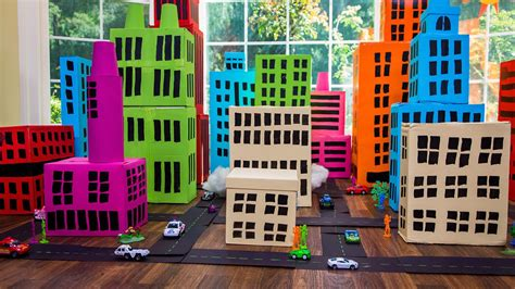 How To Make A Paper City - how to make a shoe box city