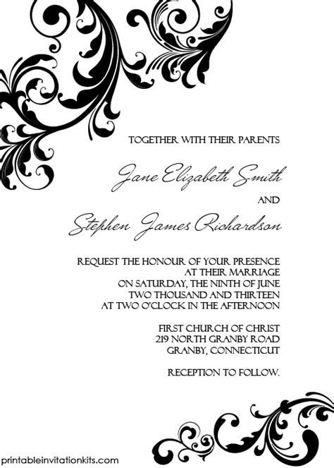 borders for invitations template wedding invitation with swirls borders wedding
