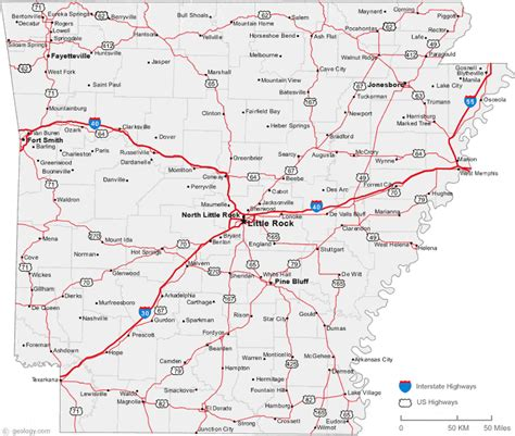 arkansas texas map map of arkansas cities arkansas road map