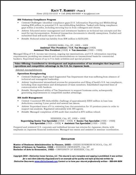 Sample Resume Format Project Manager by Investment Banking Resume Example