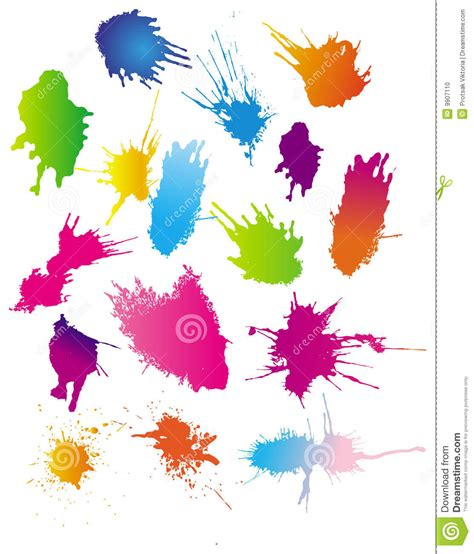 color paint splashes stock photo image 9907110