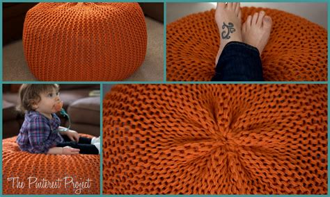knitted pouf tutorial pouf a new coffee table the project