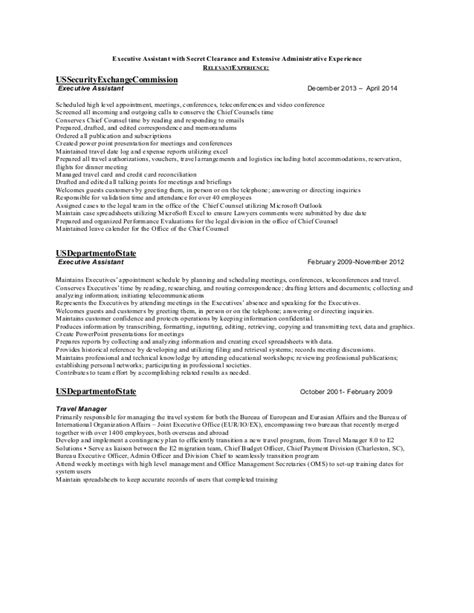 linear executive format resume template relevant experience in linear executive format for a resume
