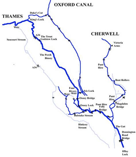 map of river thames in oxford bullstake stream oxford where thames smooth waters glide