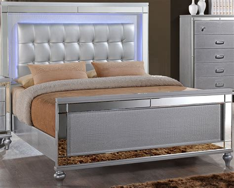 california king panel bed valentino silver cal king panel bed from new classic coleman furniture