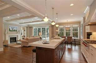 Living Room Kitchen Open Floor Plan Family Home Home Bunch Interior Design Ideas