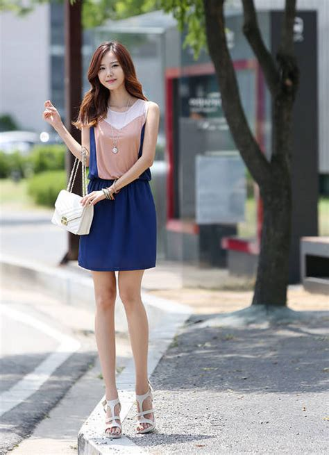 Mini Dress Santai Warna Soft Info mini dress korea cantik lengan buntung model terbaru