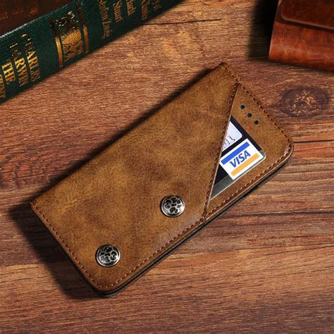 luxury leather wallet card holder flip case cover