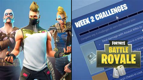 all the fortnite battle royale challenges for week 2 of