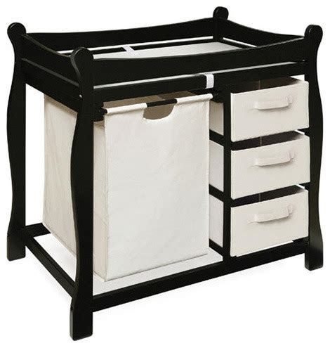 Change Table Style Sleigh Style Baby Change Table With 3 Baskets And Her Modern Changing Tables