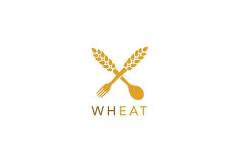 Unique Kitchen Utensils Wheat Fork And Spoon Logo Logo Cowboy