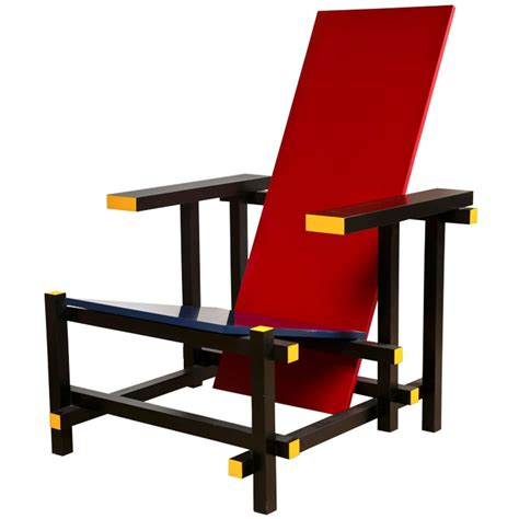 Gerrit Rietveld Chair by Gerrit Rietveld And Blue Chair At 1stdibs