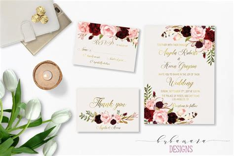 how to pattern your idea marsala wedding invitations sansalvaje com