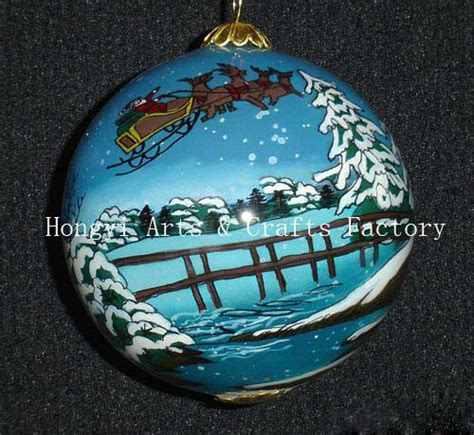china inside painting glass christmas ornaments fw0014