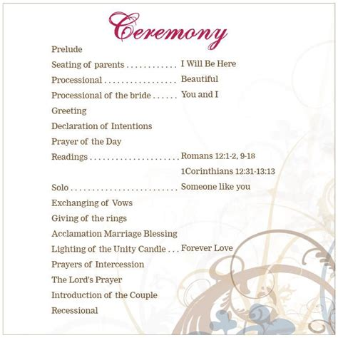 wedding ceremony order of service template the 25 best ideas about wedding ceremony outline on