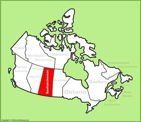 map of saskatchewan canada saskatchewan location on the canada map