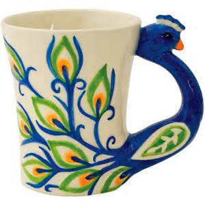 peacock mug boston warehouse peacock mug coffee tea home