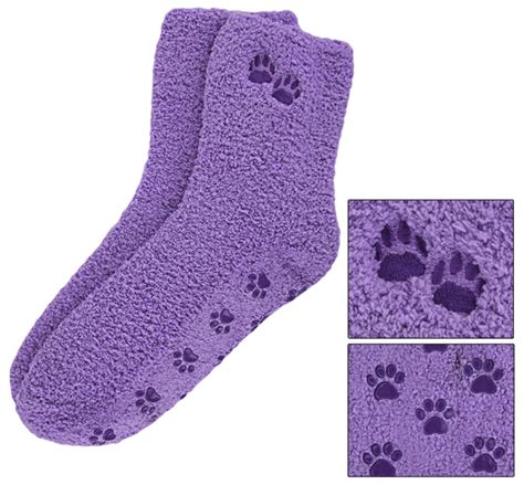 animal slipper socks purple paw slipper socks the animal rescue site