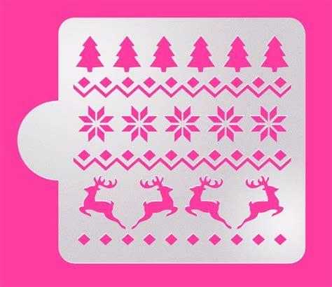 printable christmas cookie stencils christmas 5 quot x5 quot pattern cake stencil christmas cookie