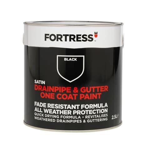 l black paint fortress black satin drainpipe gutter paint 2 5l
