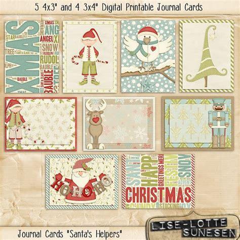 printable christmas cards uk santa s helpers printable digital journal cards 5