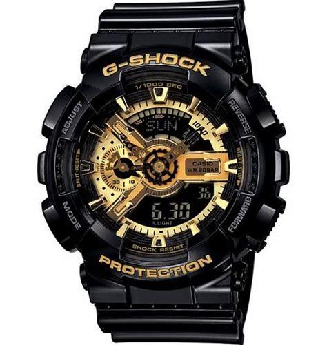Casio Gshock Type Ga110 Water Magnetic Resist casio ga110gb 1a black g shock anti magnetic gold tone analog brand new ebay