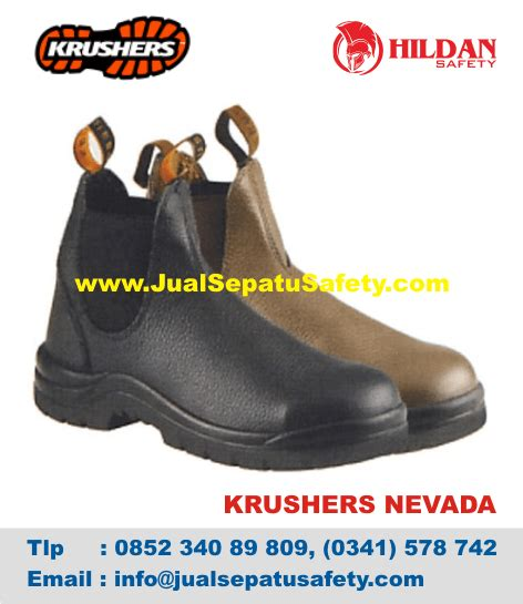 Restok Sepatu Slip On Nevada krushers nevada 216141 toko jual sepatu safety shoes