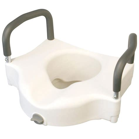 elevated toilet seat elevated locking toilet seat with arms wasatch