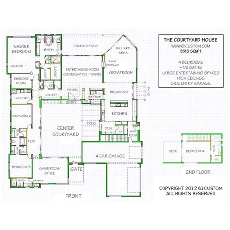 house plans with courtyard in middle courtyards home and a house on pinterest