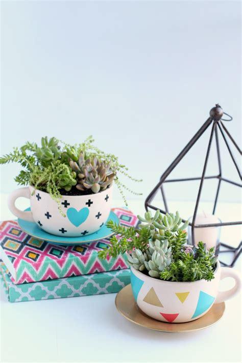 Tea Cup Planters by Diy Succulent Tea Cup Planter