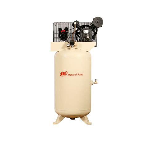 ingersoll rand type 30 reciprocating 80 gal 5 hp electric 230 volt single phase air compressor