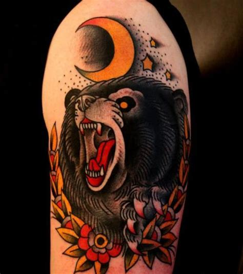 traditional bear tattoo american traditional tattoos