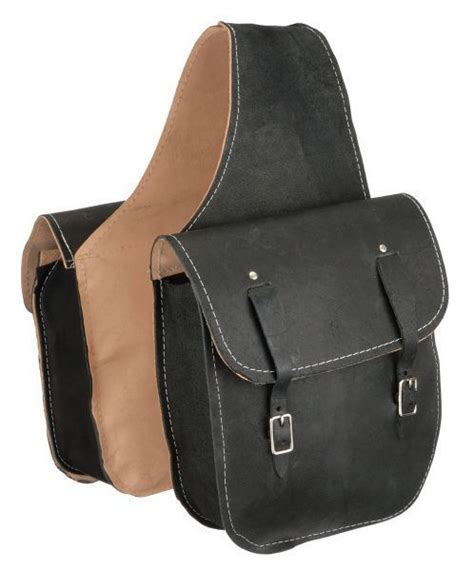 Leder Satteltaschen Motorrad black roughout leather western trail saddle bag or