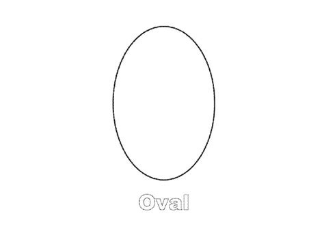 oval shaped card template best photos of oval coloring sheets for preschoolers