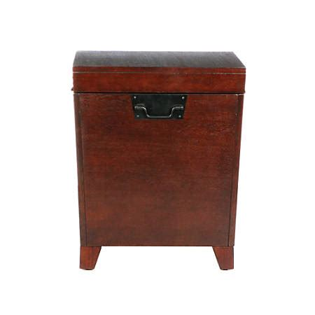 southern enterprises pyramid trunk end table espresso by
