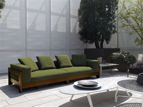 outdoor garden sofa alison quot dark brown quot outdoor garden sofas from minotti