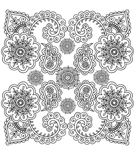 anti stress colouring book printable free coloring page 171 coloring anti stress flowers 187